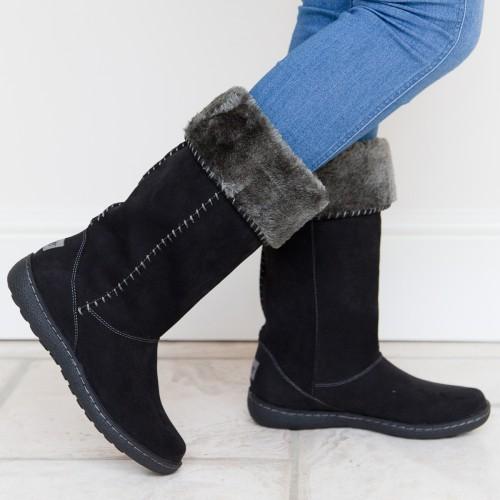 Holly Black - Pixie Footwear, Winter Boots, Faux Sheepskin